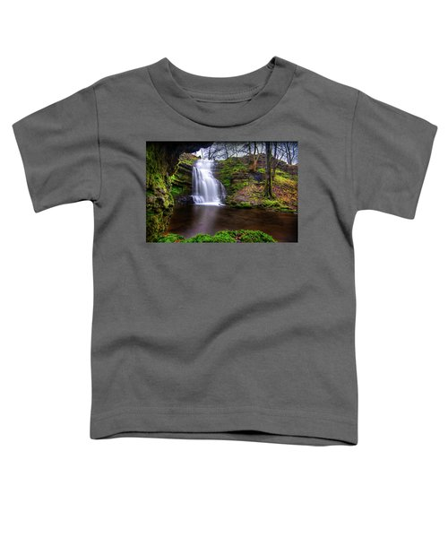 Tranquil Slow Soft Waterfall Toddler T-Shirt