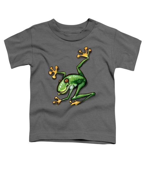 Tree Frog Toddler T-Shirt by Kevin Middleton