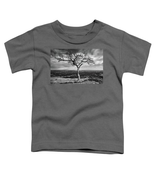 Tree On Enchanted Rock In Black And White Toddler T-Shirt