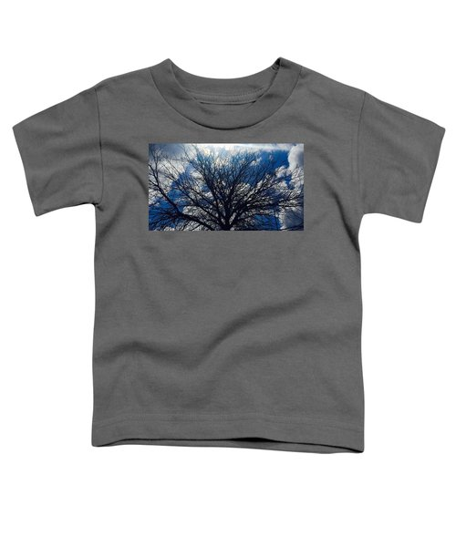 Tree Sun And Blue Sky Toddler T-Shirt