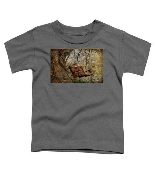 Tree Swing By The Lake Toddler T-Shirt