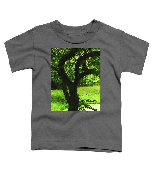 Tree Trunk Green Toddler T-Shirt