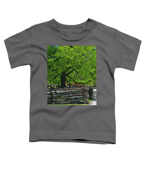 Tree With Colonial Fence Toddler T-Shirt