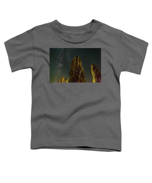 Trees Under The Milky Way On A Starry Night Toddler T-Shirt