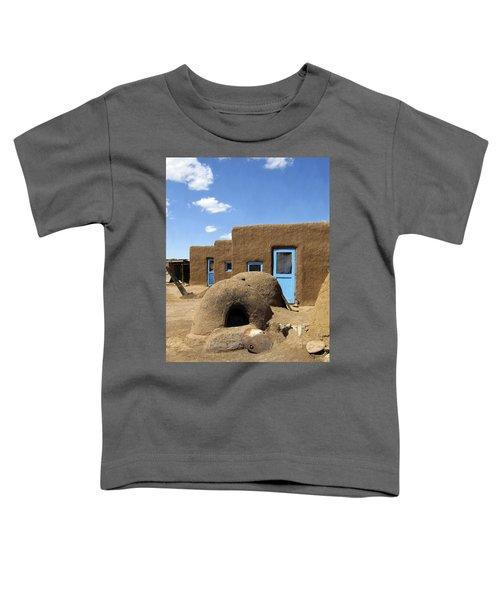 Tres Casitas Taos Pueblo Toddler T-Shirt