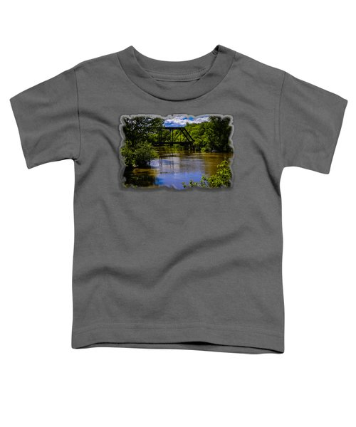 Toddler T-Shirt featuring the photograph Trestle Over River by Mark Myhaver