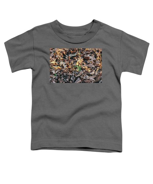 Trillium Blooming In Leaves On Forrest Floor Toddler T-Shirt