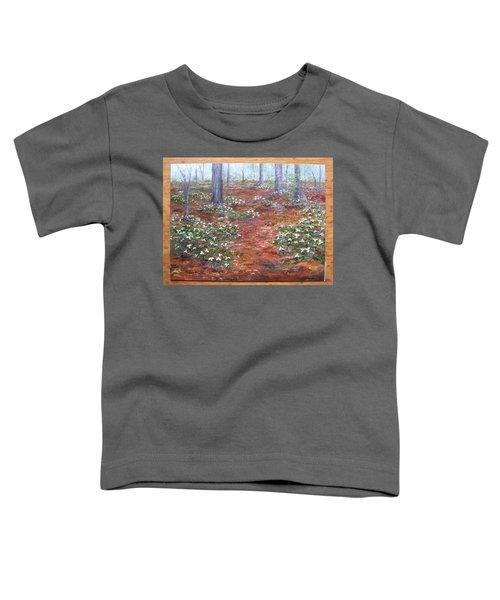 Trilliums After The Rain Toddler T-Shirt