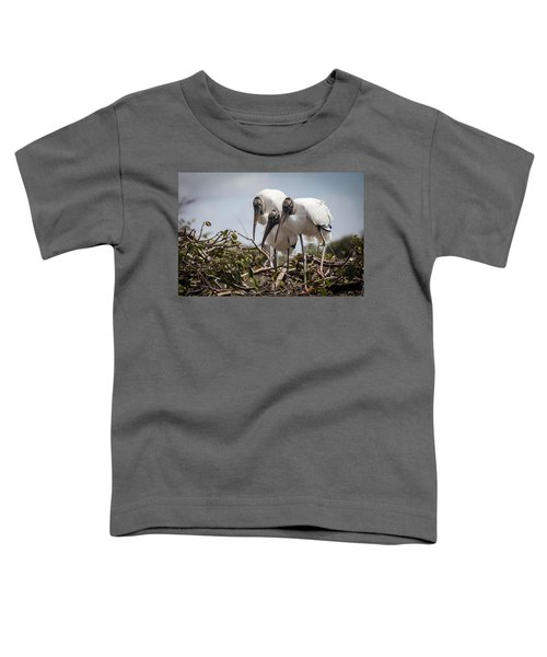 Trio Of Wood Storks Toddler T-Shirt