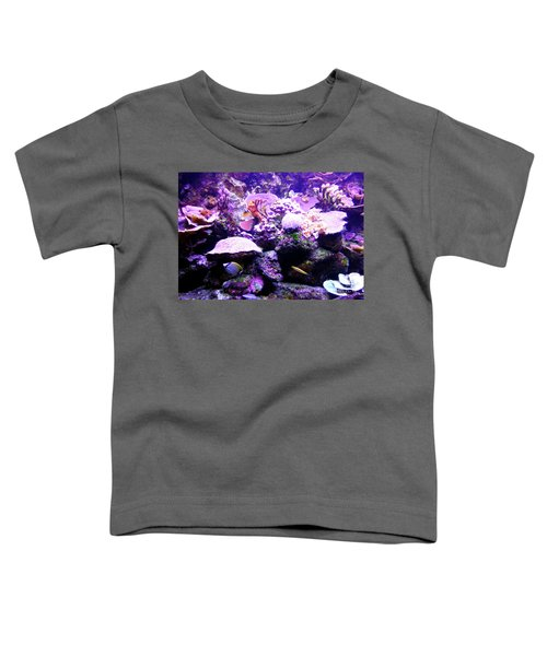 Toddler T-Shirt featuring the photograph Tropical Aquarium by Francesca Mackenney