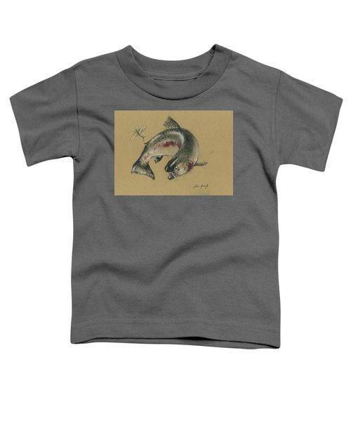 Trout Eating Toddler T-Shirt