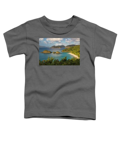 Toddler T-Shirt featuring the photograph Trunk Bay Morning by Adam Romanowicz