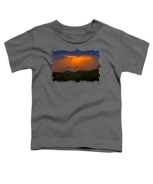 Tucson Mountains Sunset H29 Toddler T-Shirt by Mark Myhaver