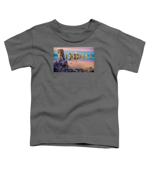 Toddler T-Shirt featuring the photograph Tufas At Mono Lake by Rikk Flohr