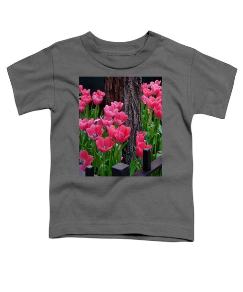 Tulips And Tree Toddler T-Shirt by Mike Nellums