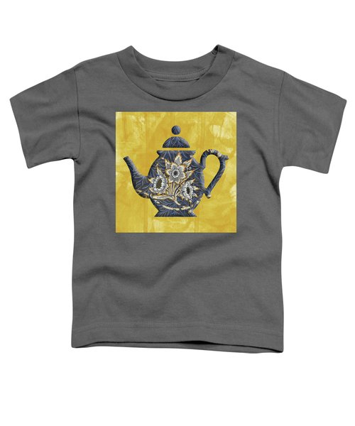 Tulips And Willow Pattern Teapot Toddler T-Shirt
