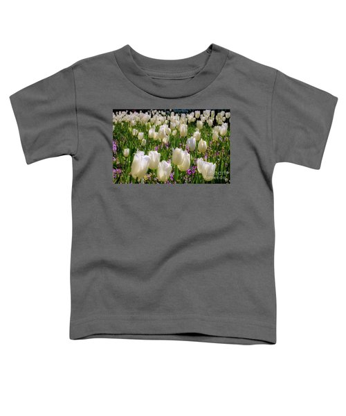 Tulips In White Toddler T-Shirt