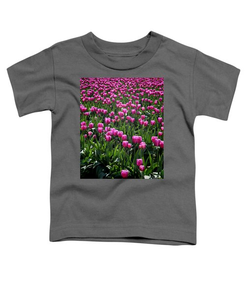 Toddler T-Shirt featuring the photograph Purple Tulips by Peter Simmons