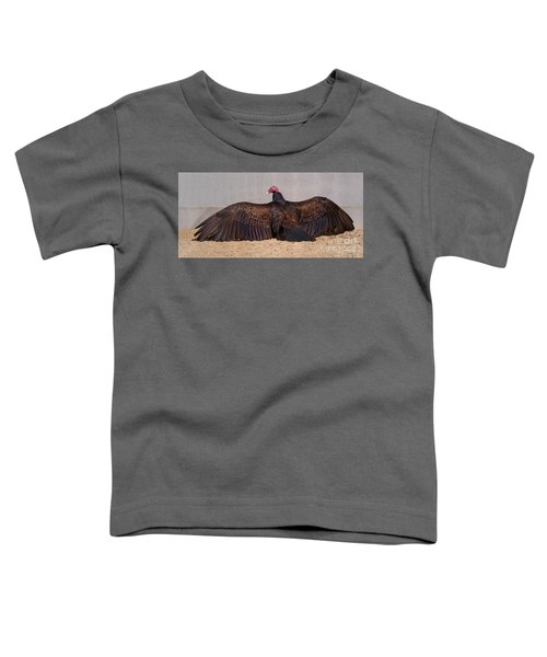 Turkey Vulture Spreading Wings Toddler T-Shirt