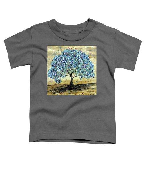 Turquoise Tree Toddler T-Shirt