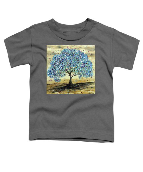 Turquoise Tree Toddler T-Shirt