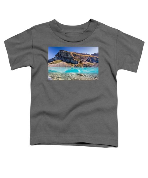 Turquoise Water Of The Scenic Lake Louise Toddler T-Shirt