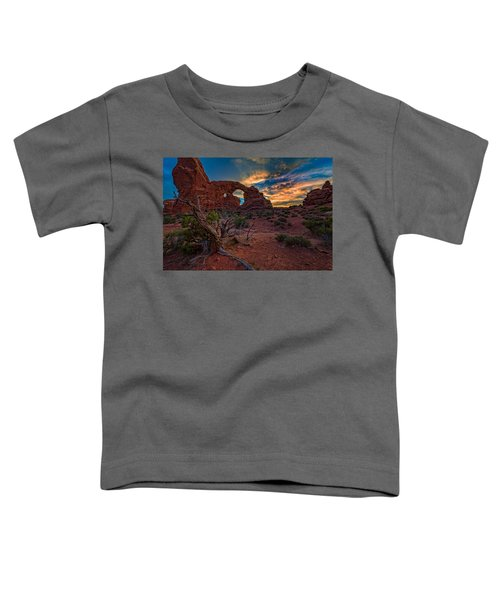 Turret Arch At Sunset Toddler T-Shirt