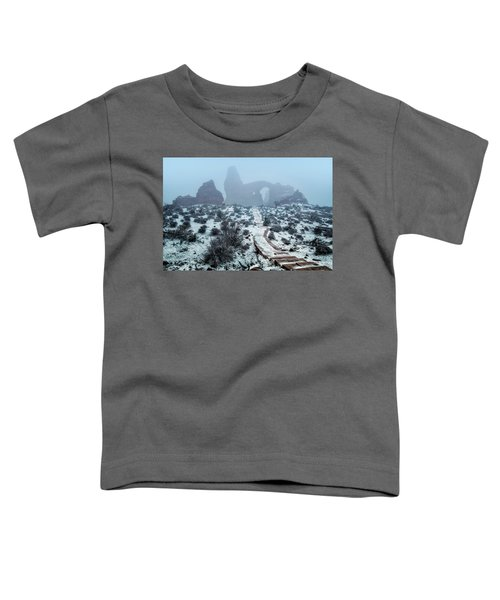 Turret Arch In The Fog Toddler T-Shirt