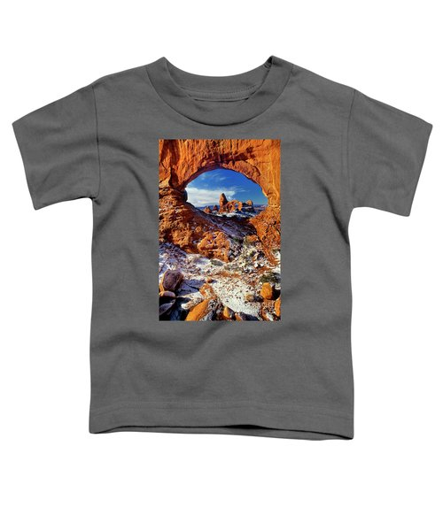 Turret Arch Through North Window Arches National Park Utah Toddler T-Shirt