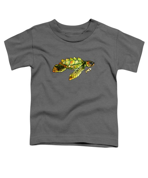 Turtle Talk Toddler T-Shirt by Candace Ho
