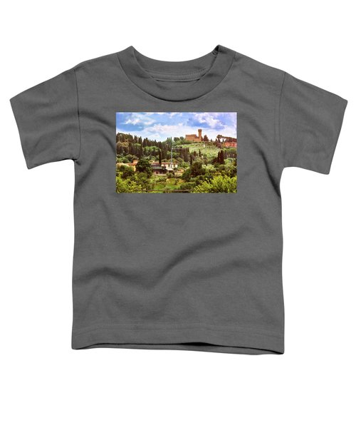 Tuscan Fields And Old Castle In Florence Toddler T-Shirt