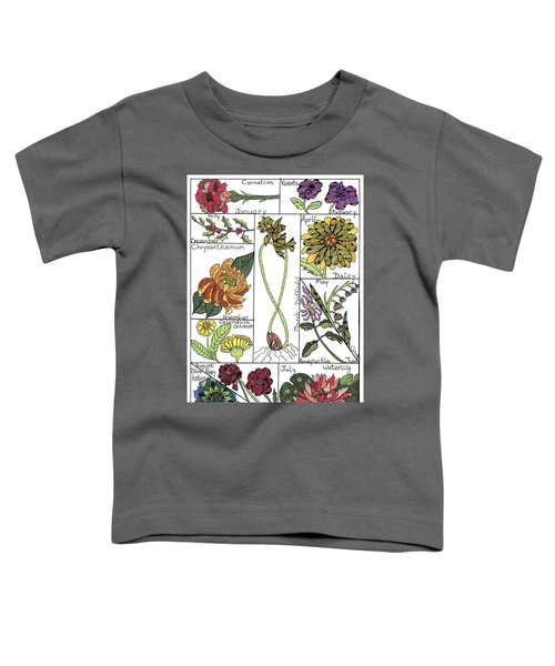 Twelve Month Flower Box Toddler T-Shirt