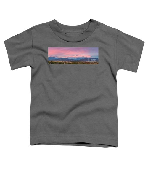 Twilight Panorama Of Sangre De Cristo Mountains And Santa Fe - New Mexico Land Of Enchantment Toddler T-Shirt