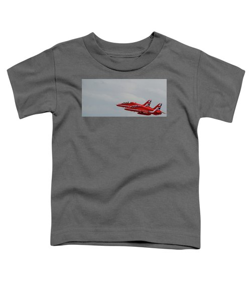 Twin Red Arrows Taking Off - Teesside Airshow 2016 Toddler T-Shirt