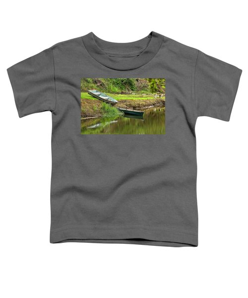 Two Boats And A Bench 1024 Toddler T-Shirt