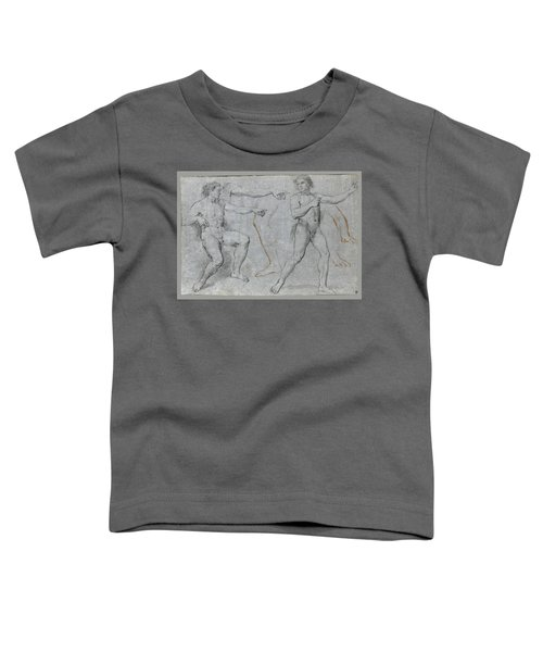 Two Male Nudes And Separate Studies Of A Leg A Left Arm And A Right Hand Toddler T-Shirt