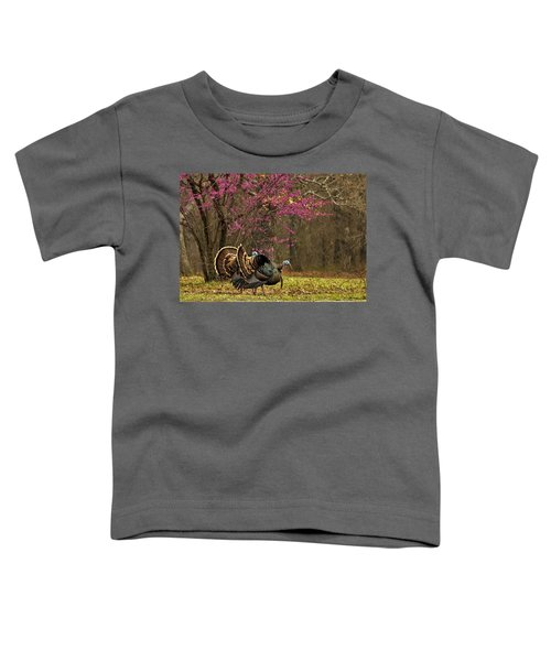 Two Tom Turkey And Redbud Tree Toddler T-Shirt