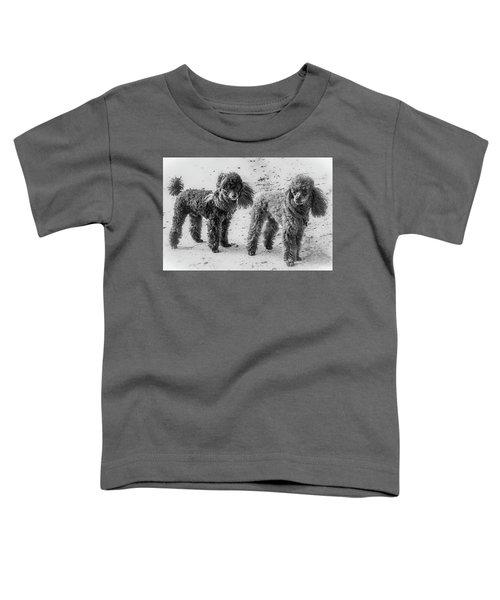 Two Toys B/w Toddler T-Shirt
