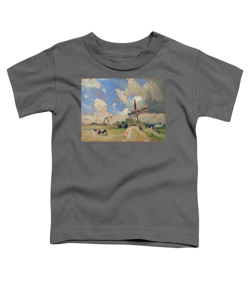 Two Windmills Toddler T-Shirt by Nop Briex