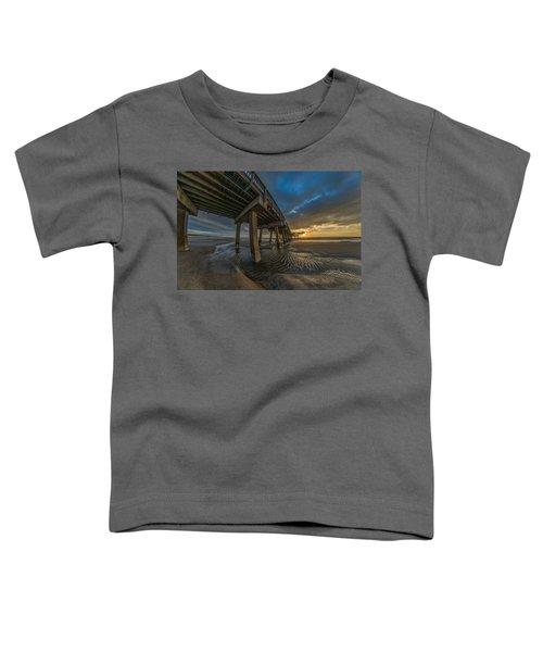 Tybee Island Beach Pier  Toddler T-Shirt