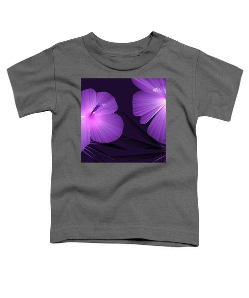 Ultraviolet Hibiscus Tropical Nature Print  Toddler T-Shirt