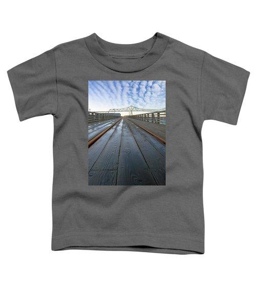 Under Astoria Megler Bridge On Riverwalk Toddler T-Shirt