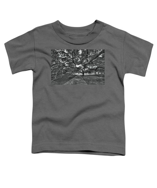Under The Century Tree - Black And White Toddler T-Shirt