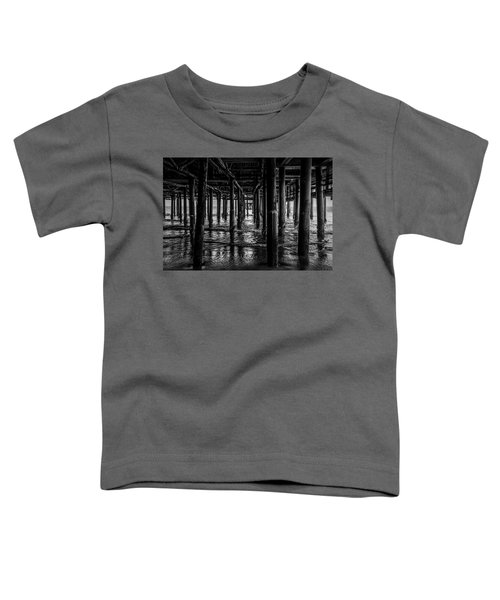 Under The Pier - Black And White Toddler T-Shirt