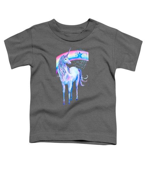 Unicorn And Rainbow Toddler T-Shirt