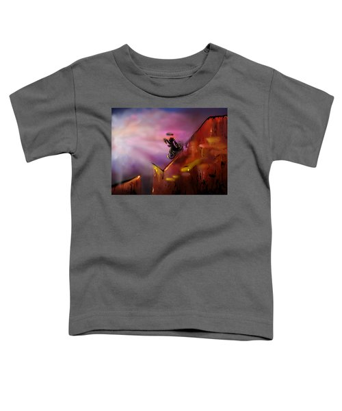 Unicycle Juggling Down Toddler T-Shirt