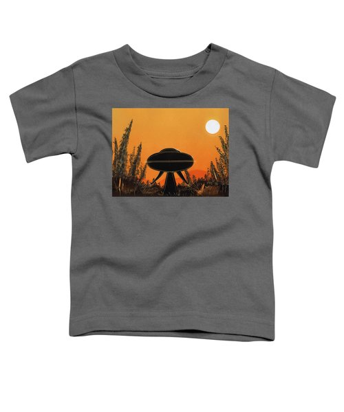Unidentified Flying Object Landing Toddler T-Shirt