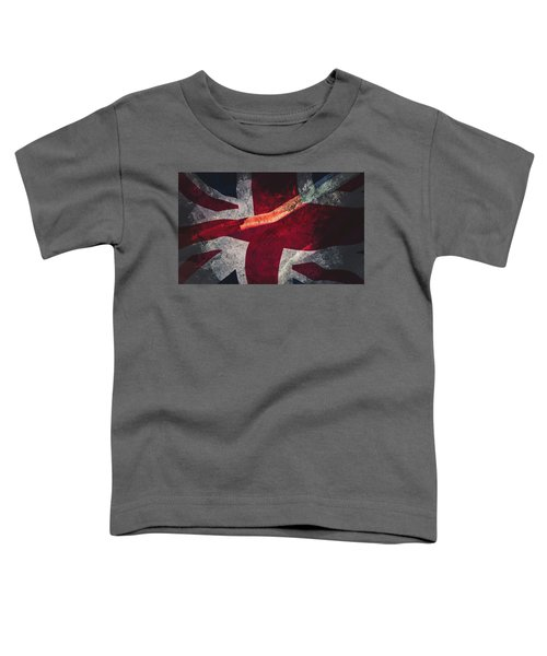Union Jack Fine Art, Abstract Vision Of Great Britain Flag Toddler T-Shirt