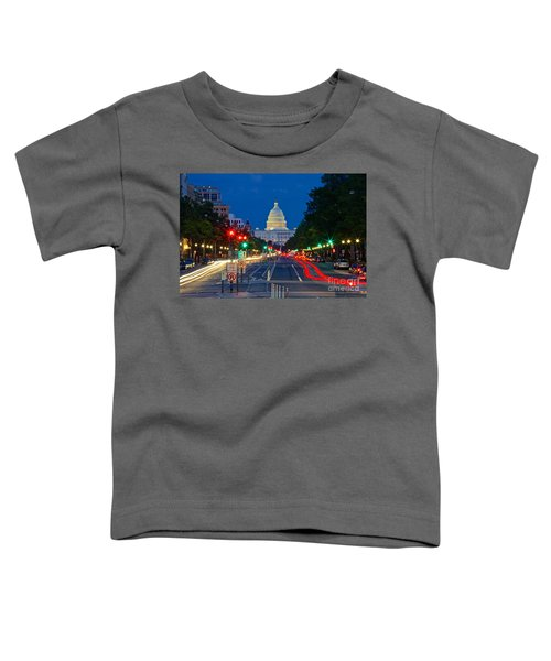 United States Capitol Along Pennsylvania Avenue In Washington, D.c.   Toddler T-Shirt
