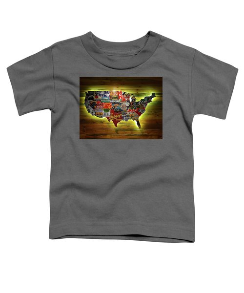United States Wall Art Toddler T-Shirt